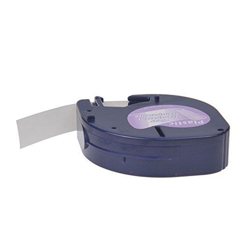 NineLeaf 20PK Compatible DYMO LetraTag 16952 (12267 16951 12268 S0721530) Black on Clear Plastic Label Tape for LetraTag LT-100H LT-100T LT-110T QX50 XR XM, Plus LT-100H (1/2'' x 13',12mm x 4m) by NineLeaf (Image #2)