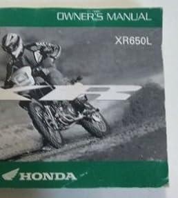2009 honda xr650l owners operators owner manual factory oem book new rh amazon com xr650l repair manual 2002 xr650l owner's manual