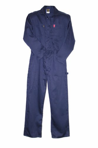 - LAPCO CVIN9NY-6XL REG Heavy Duty Flame Resistant Contractor Coverall, Navy, 6X-Large, Regular