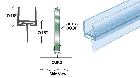 CRL Polycarbonate Bottom Rail With Wipe for 3/8