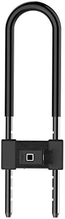 指紋 U-ロック, USB 充電式 メタル IP65 防水 高い 力 スマート 南京錠 あり キーレス 生体認証 にとって で, 荷物, スーツケース, バックパック, 自転車, 事務所-黒