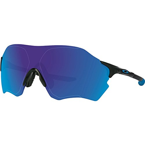 Oakley Mens EV Zero Range Polarized Sunglasses, Matte Black/Sapphire Iridium, One - Oakley Road Prizm
