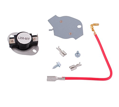 Podoy 279816 Dryer Thermostat for Whirlpool Thermal Fuse Kit with 3390291 Cut-off Fuse Connection Hardware