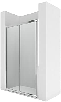Roca AM17116012 - Frontal ducha 1 puerta corredera con 1 segmento ...