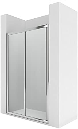 Roca AM17110012 - Frontal ducha 1 puerta corredera con 1 segmento fijo enmarcada y guía inferior entre paredes o para lateral: Amazon.es: Bricolaje y herramientas