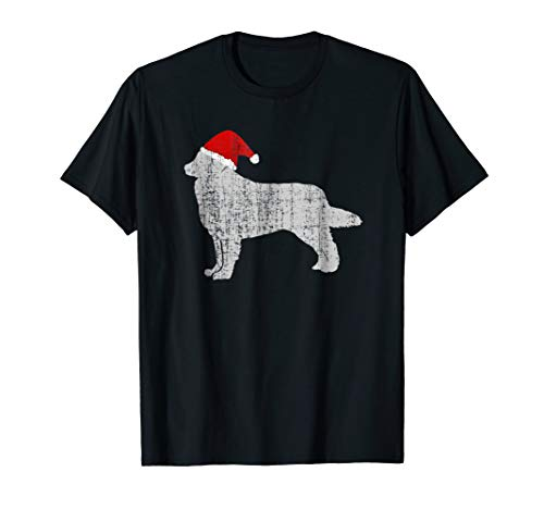 Vintage Santa Hat Burmese Mountain Dog Shirt