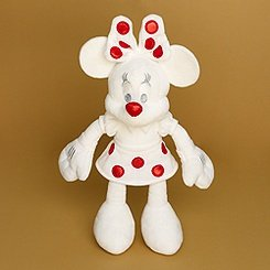 Christmas Minnie Mouse Plush.Disney Minnie Mouse Plush Toy Winter Christmas Red And