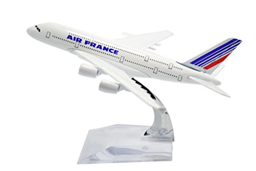 TANG DYNASTY(TM) 1:400 16cm Air Bus A380 Air France Model Plane Toy Plane Model