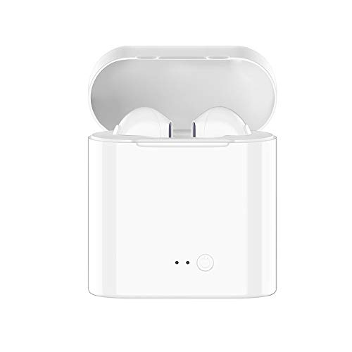 Stywvoe Bluetooth Headphones Wireless Earbuds Earphones in-Ear for Sport Bluetooth 5.0 Earphones Stereo Sound Noise Cancelling 2 Built-in Mic Earphones Compatible with iPhone Apple Airpod-White