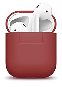 elago Silicone Cover Compatible with Apple AirPods 1 & 2 (Front LED Not Visible) - [Extra Protection] [Slim and Lightweight] - Red