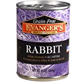 Evangers 776411 12-Pack Grain Free Rabbit for Dogs and Cats, 13-Ounce