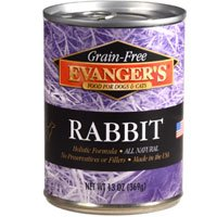 EVANGER'S 776411 12-Pack Grain Free Rabbit for Dogs and Cats, 13-Ounce