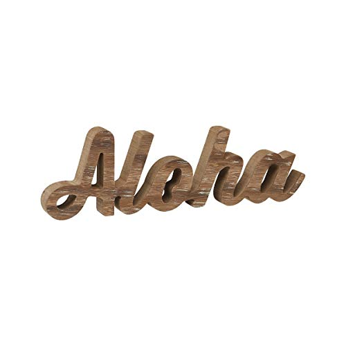 Collins Fresh and Original - Aloha Cutout Wood Sign, Wall Art Or Tabletop Sitter 12