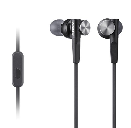 Sony MDRXB50AP Extra Bass Earbud Headset (Black) (Renewed) Black Super Bass Earbuds