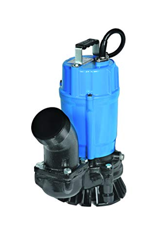 Tsurumi HS3.75S; semi-Vortex Submersible Trash Pump w/Agitator, 1hp, 115V, 3