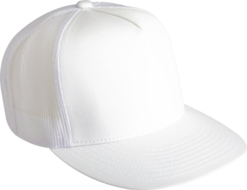 Adjustable Snapback Classic Trucker Hat by FlexFit #6006 - Mesh White Snapback