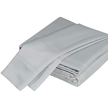 DTY Bedding Luxuriously Soft Bamboo 5-Piece Sheet Set, Oeko-TEX Certified - Split, Light Gray