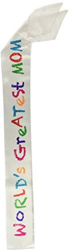 World's Greatest Mom Satin Sash Party Accessory (1 count) (1/Pkg)