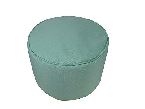 - Lava Polyester Ottomans 53966-490 Sunbrella Glacier Pouf 12X17 Round Poufs/Outdoor Pouf 17 X 12 X 12 Inches Multicolored