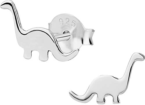 Hypoallergenic Sterling Silver Little Dinosaur Stud Earrings for Kids (Nickel ()