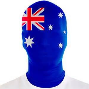 Adults Australia Morphmask (Aussie Flag Dress)
