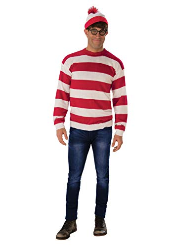 Rubie's Unisex-Adult's Where's Waldo Deluxe Costume, As