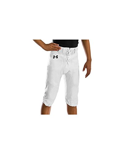 Under Armour Boys' College Park Pant, White (100)/Black, Youth X-Large