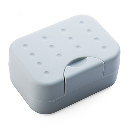 yodaliy 1Pc Portable Travel Rectangular Soap Dish Plastic Waterproof Lock  Leak Dish with Lid Lock Buckle c6a389f70cfa