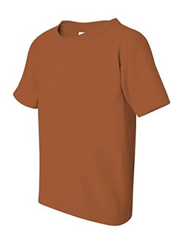 Texas Orange T-shirt - Gildan Boys DryBlend? 5.6 oz., 50/50 T-Shirt (G500B) -TEXAS ORAN -L