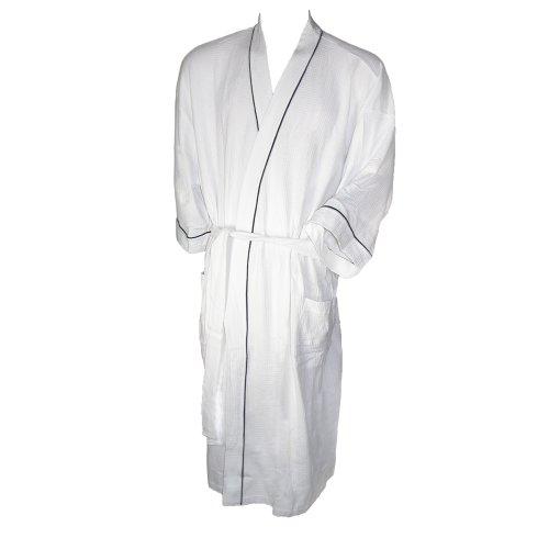 Majestic Kimono Robe (Majestic International Men's Big & Tall Cotton Waffle Knit Kimono Robe, Lt/XLT)