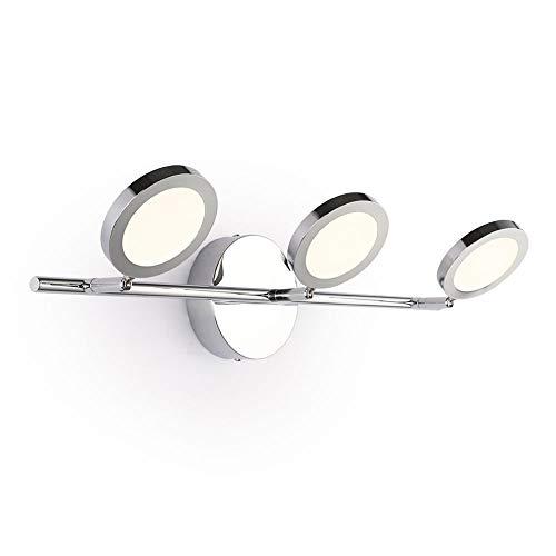 Joosenhouse LED Vanity Lights for Bathroom,Modern Bath Vanity Light Chrome 3 Light -