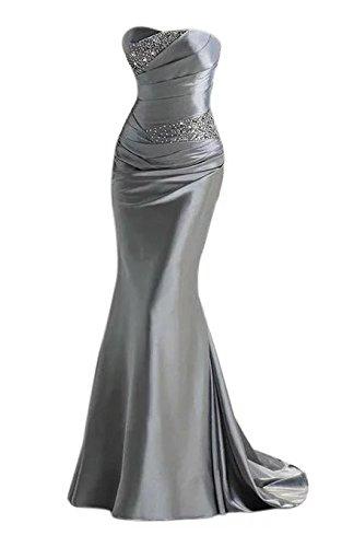 Vickyben–Vestido de noche de mujer largo, escote palabra de