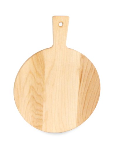 - J.K. Adams Maple Wood Mini Cutting Board, Round, 7-1/2-inches by 5-inches