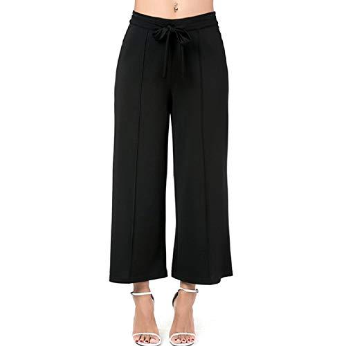 Pour Large Noir Noir couleur Fuweiencore Taille Classique Femmes Pantalon Métropolitaine De EtwZyf5aq