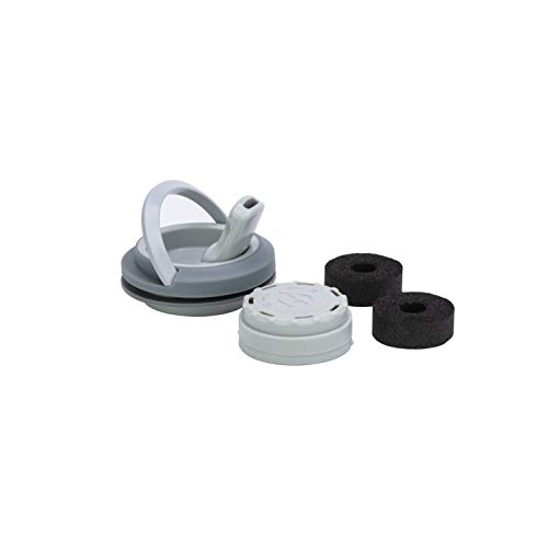 HYDAWAY Carbon Filter & Lid Pack | High Flow Spout Lid with Reusable BPA-Free Filter Housing and 3 Carbon Block Filters (Thunder)