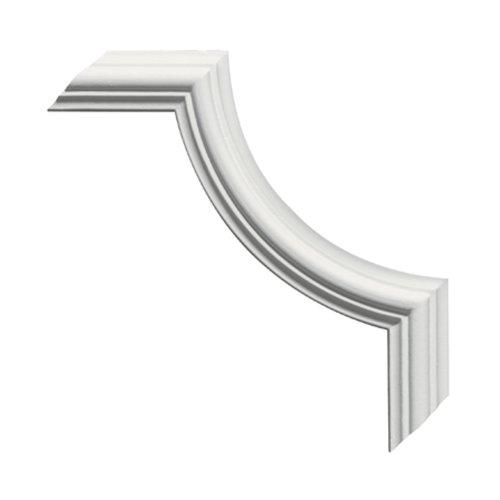 Focal Point Panel - Focal Point 10834 System D Large Plain Micro Panel Corner #3 5 1/8-Inch by 5 1/8-Inch by 1/2-Inch, Primed White, 4-Pack