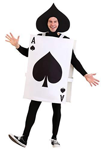 Alice In Wonderland Card Costume (Adult Ace of Spades Costume Standard)