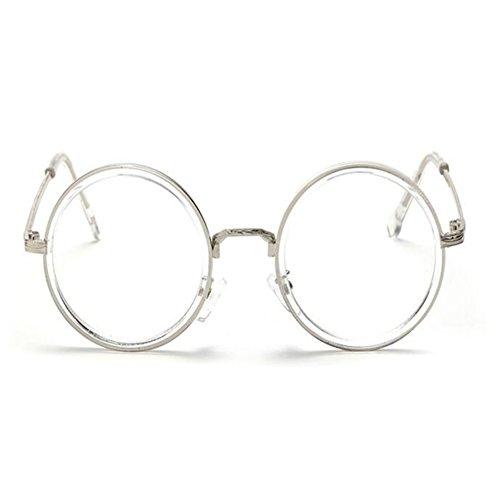 Lentes Transparente FuyingdaGafas vendimia Vidrios Sra transparentes redondas ovales de Gafas luz la Men Blanco de de de azul filtro lentes 6qrHgx6