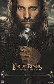 LORD OF THE RINGS RETURN OF THE KING POSTER 2 Sided ORIGINAL SAM /& FRODO 27x40