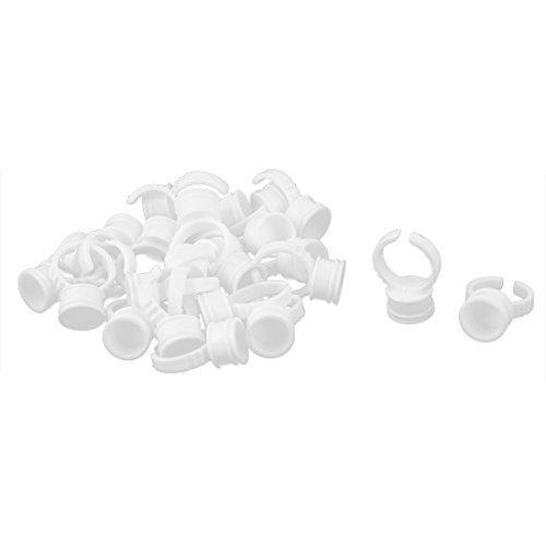 DealMux descartvel pestana Ferramenta Maquiagem pigmento da tinta Container Cups anel de armazenamento Suportes 25pcs