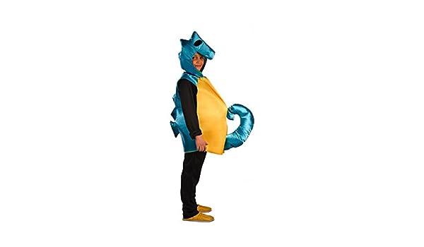 El Rey del Carnaval Disfraz de Caballito De Mar Azul para niños ...