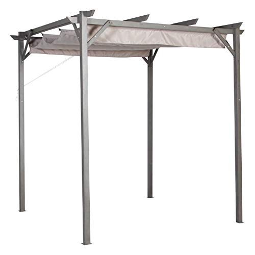 Garden Winds 8 x 8 Pergola Replacement Canopy Top Cover - RipLock 350