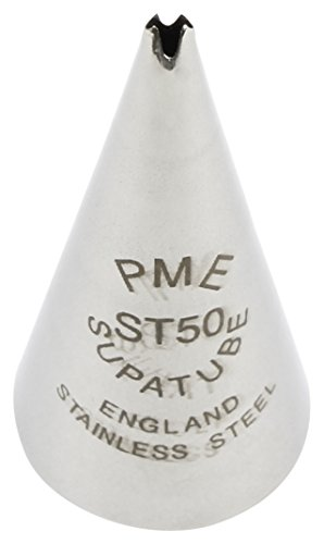 PME ST50 Leaf Small No.50-Icing Supatube Tip, Standard, Silver