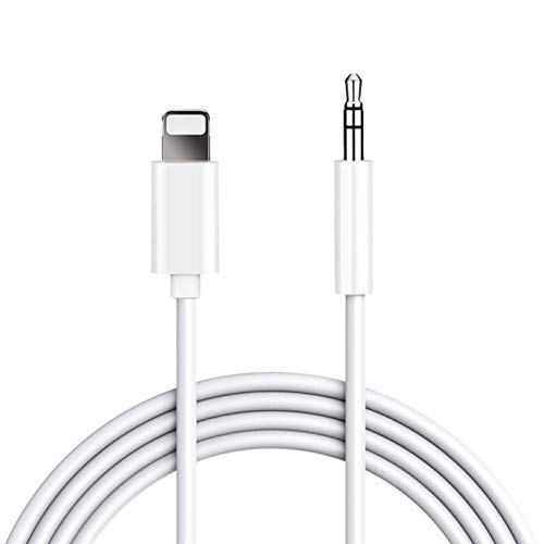 Aux Cord for iPhone 3.5mm Compatible with iPhone Xr/Xs MAX /8Plus/7 Plus 6/6Plus iPod/iPad Adapter Cable to Car/Home Stereo/Headphone/Car Stereo/Speaker/Headphone Adapter Support All iOS System (Car Audio Cable)
