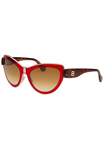 balenciaga-womens-cat-eye-gold-tone-and-red-sunglasses