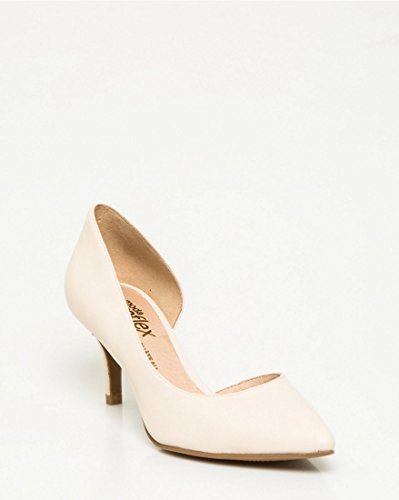 LE CHÂTEAU Women's Leather Half D'Orsay Pump Ivory clearance exclusive choice sale online 0RUA1VU