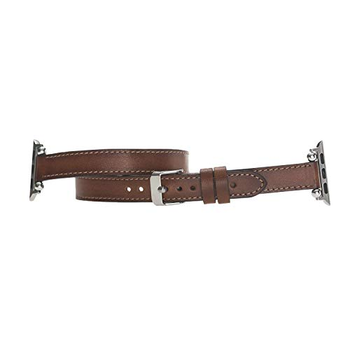 ff67b0787 Slim Apple Watch Leather Band for Women Double Tour Thin iWatch Strap 38mm,  40mm,