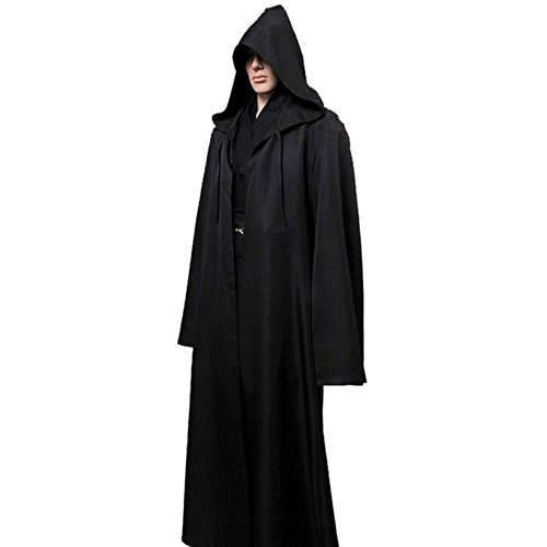 Amayar Men Tunic Hooded Robe Cloak Knight Fancy Cool Cosplay Costume