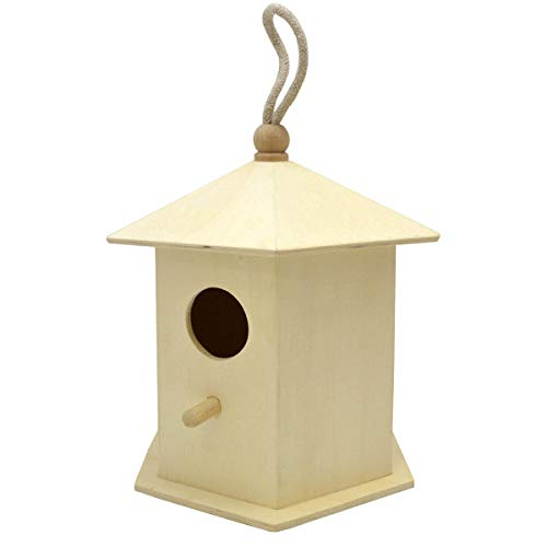 - Lara's Crafts Decorative Bird House - Tulip. Approximately 6 inches x 5 inches x 7 inches