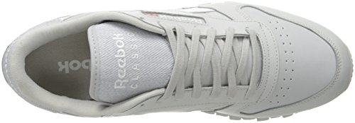 Reebok Classic Leather Pop Lace-up Fashion Sneaker Totenkopf grau/weiß